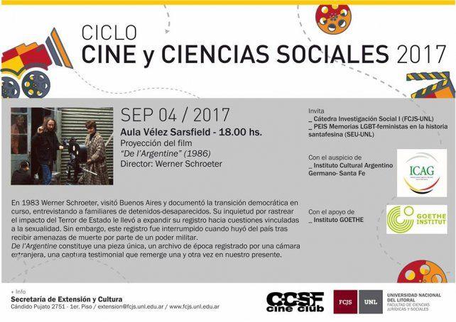 Comienza el ciclo Cine y Ciencias Sociales 2017
