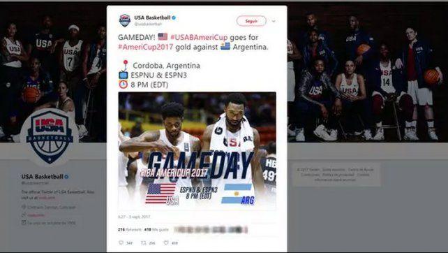 El insólito error de Estados Unidos para anunciar la final de la AmeriCup