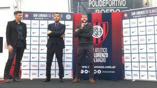 San Lorenzo presentó su equipo con la presencia de Tinelli