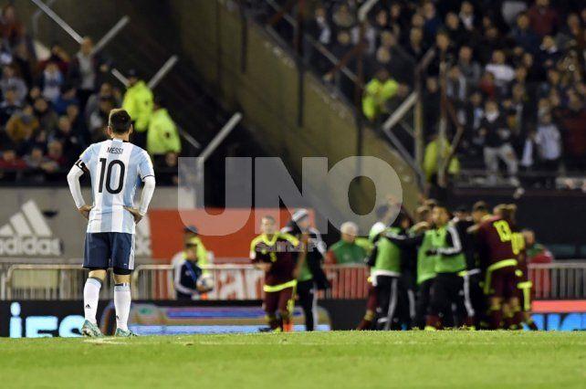 Argentina no pudo ante Venezuela y ahora tiene muy complicada su clasificación a Rusia