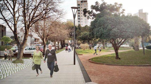Proyecto puesta en valor de la Plaza San Martín.