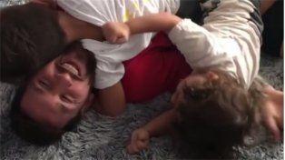 Messi se reencontró con sus hijos tras la espantosa actuación de la Selección