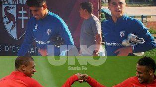 Neymar y Mbappé contra Poblete y Fernández
