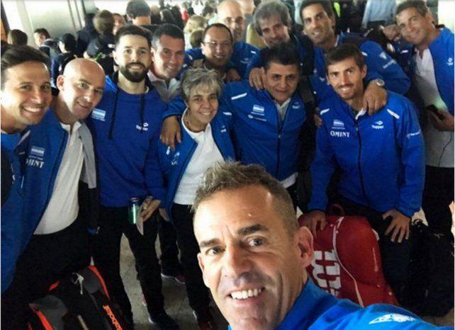 El equipo argentino de Copa Davis viajó a Kazajistán con la misión de evitar el descenso