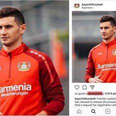 Alario le dio la derecha al Leverkusen en su reclamo contra River