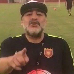 el polemico pedido de maradona a macri por la aparicion de santiago maldonado