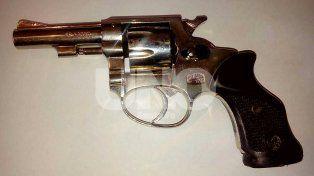 Arma de guerra. El revólver calibre 38 que fue secuestrado.
