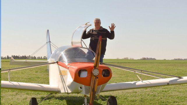 El primer avión con motor diesel gasolero  de todo el país es una creación santafesina