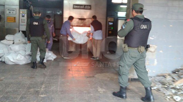 Incineraron 600 kilos de cocaína y marihuana en el crematorio municipal