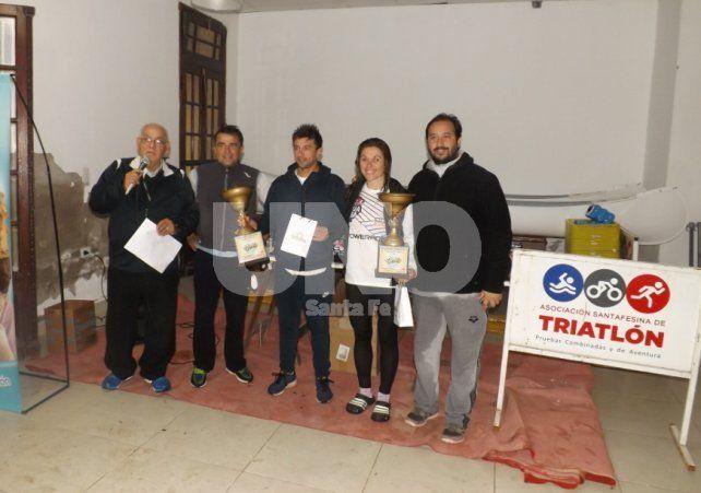 Los ganadores: Pablo Viladoms y Carolina Zrun.