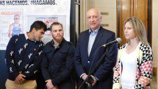 Deportistas santafesinos participaron en lanzamiento de importante muestra