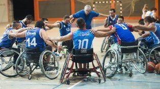 Se reinaugura el estadio de Cilsa con un cuadrangular de básquet sobre silla de ruedas