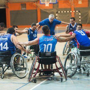 se reinaugura el estadio de cilsa con un cuadrangular de basquet sobre silla de ruedas