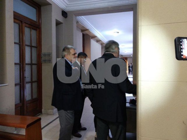 Miguel Ángel Pierre en los tribunales santafesinos.