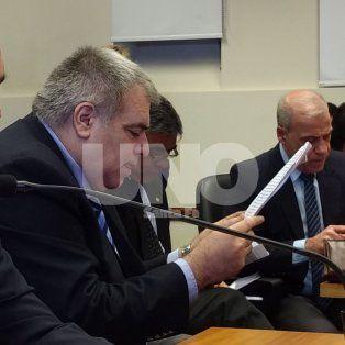Pierri, en la audiencia imputativa en los tribunales santafesinos.