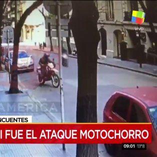 motochorros roban a una mujer una cartera con 600 mil pesos que saco del banco