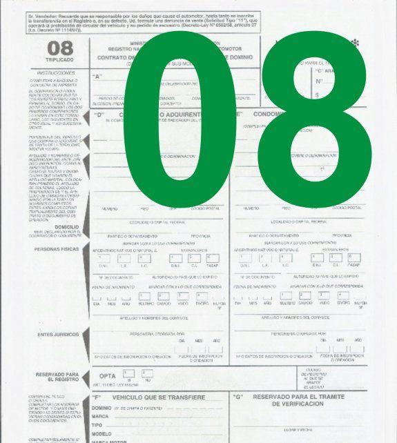 Ahora, el Formulario 08 se puede completar por internet
