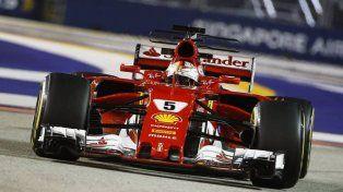 Vettel largará primero en Singapur