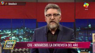 Novaresio le dio una explicación a su vieja de la entrevista que le realizó a Cristina