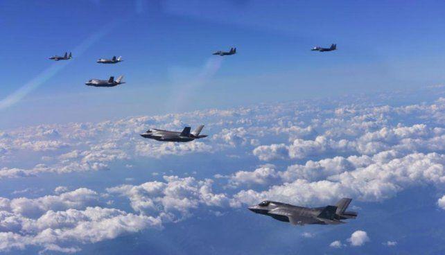 Estados Unidos simuló un bombardeo cerca de Corea del Norte