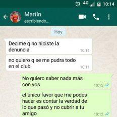 Caso Alexis Zárate: Los chats entre la víctima y los jugadores de Independiente