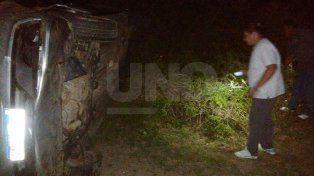 Murió una mujer en un vuelco ocurrido en un camino rural de San Cristóbal