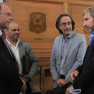 Saglione y Frigerio, y una negociación clave