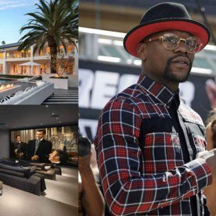la tremenda mansion de floyd mayweather: candy bar, cine privado y bodega exclusiva