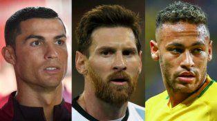 Messi, Cristiano Ronaldo y Neymar pelearán por el premio The Best