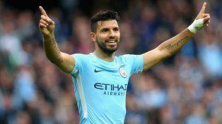Inglaterra: Agüero se hizo presente en la goleada del Manchester City