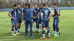 Andereggen fue titular en un amistoso de la Sub 20 contra Independiente