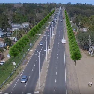 Ambicioso. El plan de la provincia para esta ruta modifica definitivamente la calidad de vida en la zona. En la imagen, una proyección digital del aspecto que tendrá la ruta, con el arbolado ya colocado.