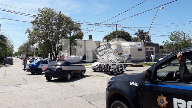 Impresionante accidente sobre Salvador del Carril, a metros de General Paz