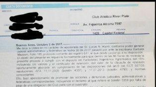 Un nuevo capítulo de la novela: ahora Lucas Alario intimó a River