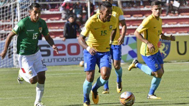 Brasil apenas logró un punto en su visita a la Paz