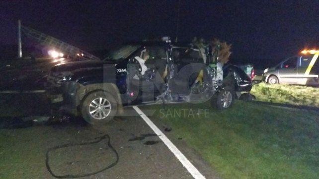Tres policías heridos: dos en un choque y una suboficial, embestida por un automóvil