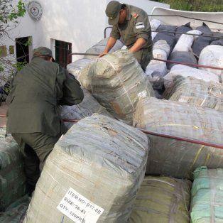 gendarmeria secuestro mercaderia de contrabando por mas de $8.000.000 en santa fe
