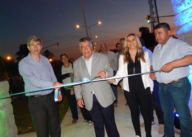 Inauguración. Fue el jueves con funcionarios municipales y provinciales.
