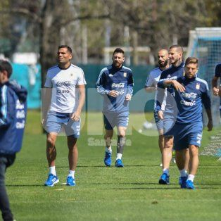 basta de descanso: la seleccion argentina volvio a entrenar pensando en ecuador