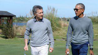 Macri y Obama jugaron al golf