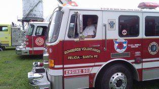 Bomberos voluntarios le salvaron la vida a un bebé en el Parque Federal