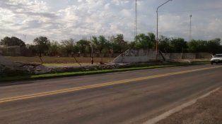 La tormenta le tumbó el tapial al club San Martín: gestionan recursos para levantarlo