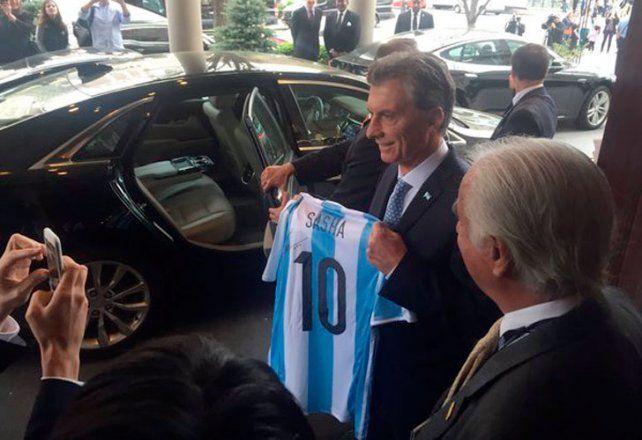 Mauricio Macri le agradeció a la Selección la clasificación