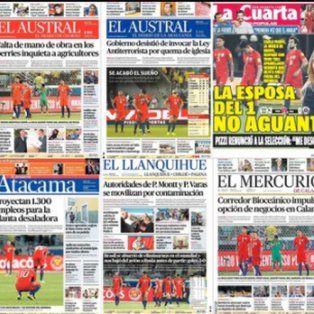 la prensa chilena destrozo a su seleccion