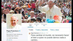 Francisco superó los 40 millones de seguidores en Twitter