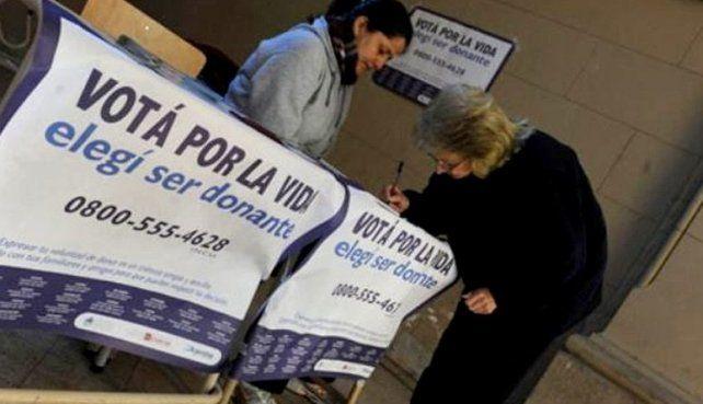 El domingo los santafesinos también podrán votar por la donación de órganos y tejidos