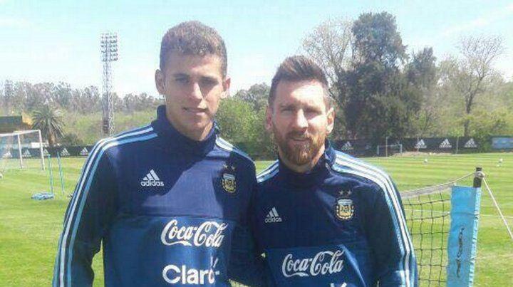 Andereggen: Todavía no caí que pude entrenar con Messi