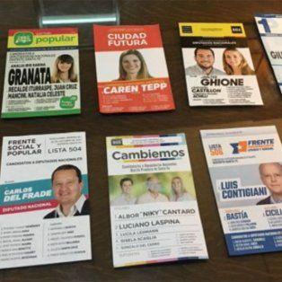 Las 10 opciones.Estas son las 10 boletas que encontrarán todos los santafesinos que concurran a las urnas este domingo y elijan diputados nacionales.