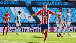 Atlético Madrid cortó la malaria ante Celta y se prende en la lucha de arriba