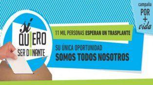 Tres donantes de órganos por minuto se inscribieron hoy en el Incucai